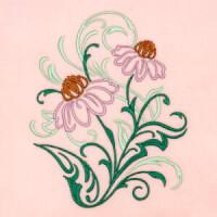 Matriz de bordado floral 419