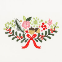 Matriz de bordado floral natalino 3