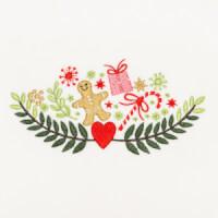 Matriz de bordado floral natalino 4