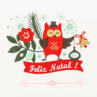 Matriz de bordado floral natalino 5