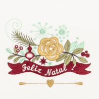 Matriz de bordado floral natalino 6