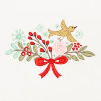 Matriz de bordado floral natalino 7