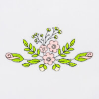 Matriz de bordado floral 425