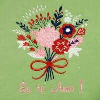 Matriz de bordado floral 436