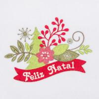 Matriz de bordado floral natalino 9