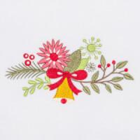 Matriz de bordado floral natalino 10