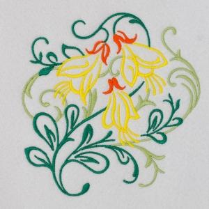 Matriz de bordado floral 437