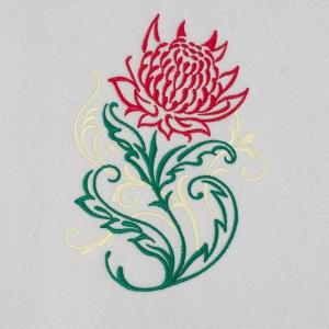 Matriz de bordado floral 438
