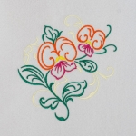 Matriz de bordado floral 439