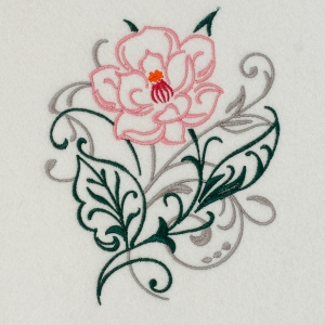 Matriz de bordado floral 443