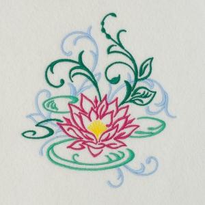 Matriz de bordado floral 444