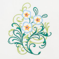 Matriz de bordado floral 445