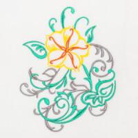 Matriz de bordado floral 447