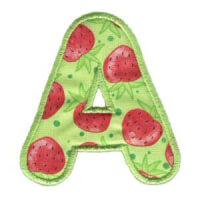 Matriz de bordado Monograma Aplique Infantil 3 Letra A