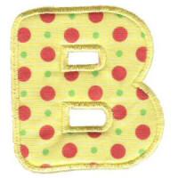 Matriz de bordado Monograma Aplique Infantil 3 Letra B