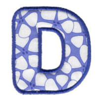 Matriz de bordado Monograma Aplique Infantil 3 Letra D
