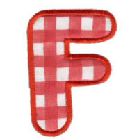 Matriz de bordado Monograma Aplique Infantil 3 Letra F