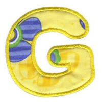 Matriz de bordado Monograma Aplique Infantil 3 Letra G