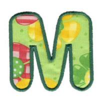 Matriz de bordado Monograma Aplique Infantil 3 Letra M
