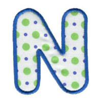 Matriz de bordado Monograma Aplique Infantil 3 Letra N