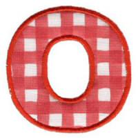 Matriz de bordado Monograma Aplique Infantil 3 Letra O