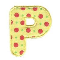 Matriz de bordado Monograma Aplique Infantil 3 Letra P