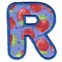 Matriz de bordado Monograma Aplique Infantil 3 Letra R