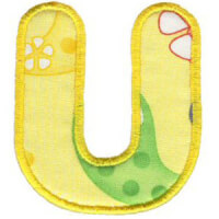 Matriz de bordado Monograma Aplique Infantil 3 Letra U