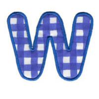 Matriz de bordado Monograma Aplique Infantil 3 Letra W