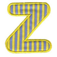 Matriz de bordado Monograma Aplique Infantil 3 Letra Z