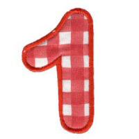 Matriz de bordado Monograma Aplique Infantil 3 Número 1