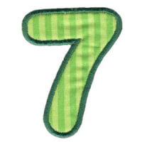 Matriz de bordado Monograma Aplique Infantil 3 Número 7