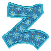 Matriz de bordado Monograma Aplique Infantil 5 Letra Z