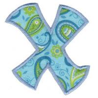 Matriz de bordado Monograma Aplique Infantil 5 Letra X
