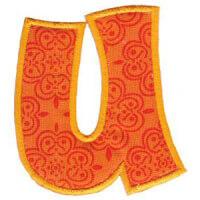 Matriz de bordado Monograma Aplique Infantil 5 Letra U