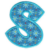 Matriz de bordado Monograma Aplique Infantil 5 Letra S
