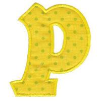 Matriz de bordado Monograma Aplique Infantil 5 Letra P