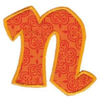 Matriz de bordado Monograma Aplique Infantil 5 Letra N