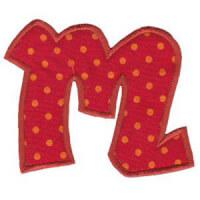 Matriz de bordado Monograma Aplique Infantil 5 Letra M