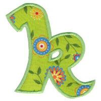 Matriz de bordado Monograma Aplique Infantil 5 Letra K