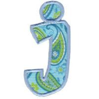 Matriz de bordado Monograma Aplique Infantil 5 Letra J