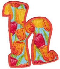 Matriz de bordado Monograma Aplique Infantil 5 Letra H