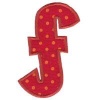Matriz de bordado Monograma Aplique Infantil 5 Letra F