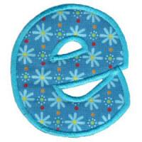 Matriz de bordado Monograma Aplique Infantil 5 Letra E