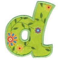 Matriz de bordado Monograma Aplique Infantil 5 Letra D