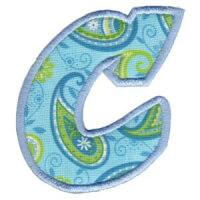 Matriz de bordado Monograma Aplique Infantil 5 Letra C
