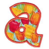 Matriz de bordado Monograma Aplique Infantil 5 Letra A