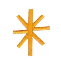 Matriz de bordado Monograma Aplique Infantil 5 Asterisco