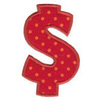 Matriz de bordado Monograma Aplique Infantil 5 $