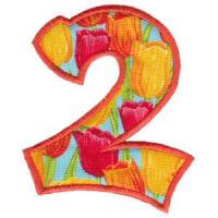Matriz de bordado Monograma Aplique Infantil 5 Número 2